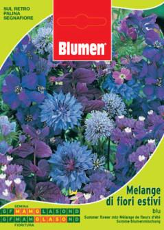 Semi di Melange di fiori estivi blu