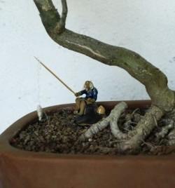 statuina per bonsai - il pescatore